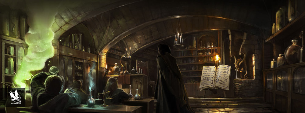 Pottermore - Concept Art - Harrys first potion lesson