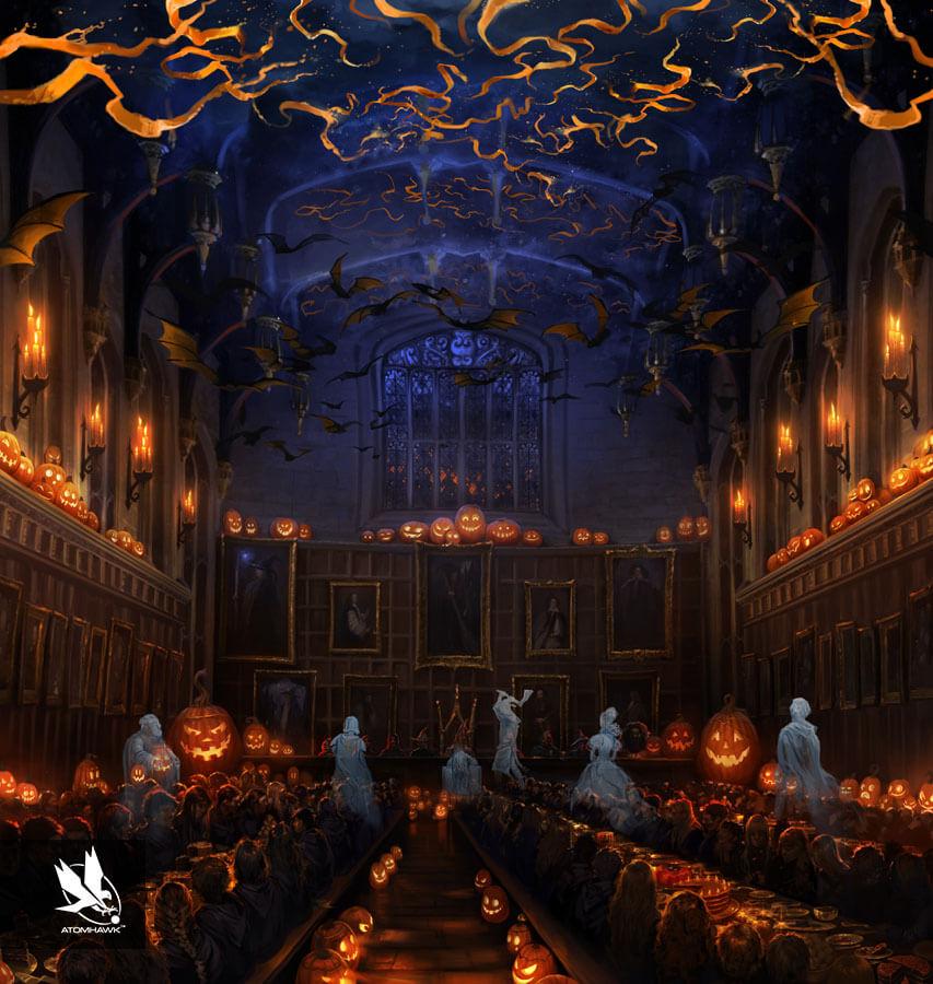 Pottermore - Concept Art - Halloween Feast