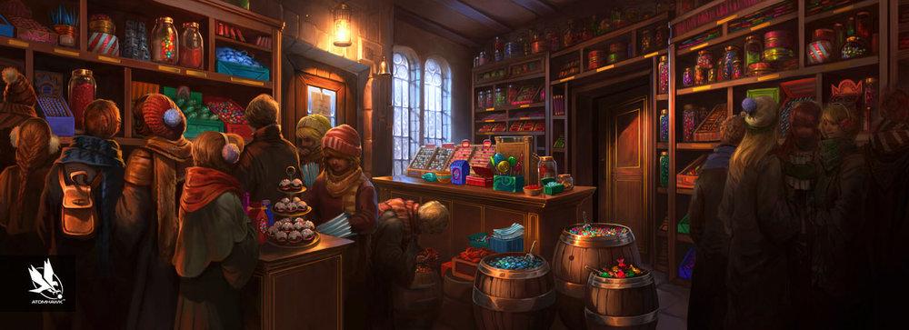 Pottermore - Concept Art - Honeydukes