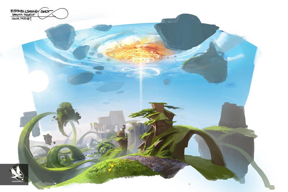 Project Spark - Environment Design - Colour Sketch