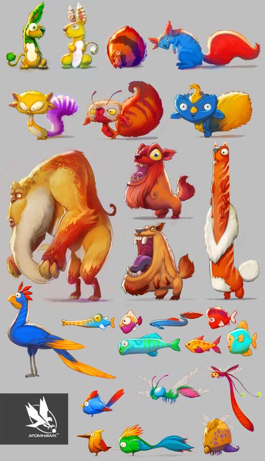 Project Spark - Creature Design - Animals