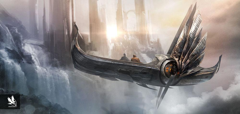 Atomhawk_Marvel_Thor The Dark World_Concept Art__Spacecraft Design_Asgardian Skiff_Services.jpg
