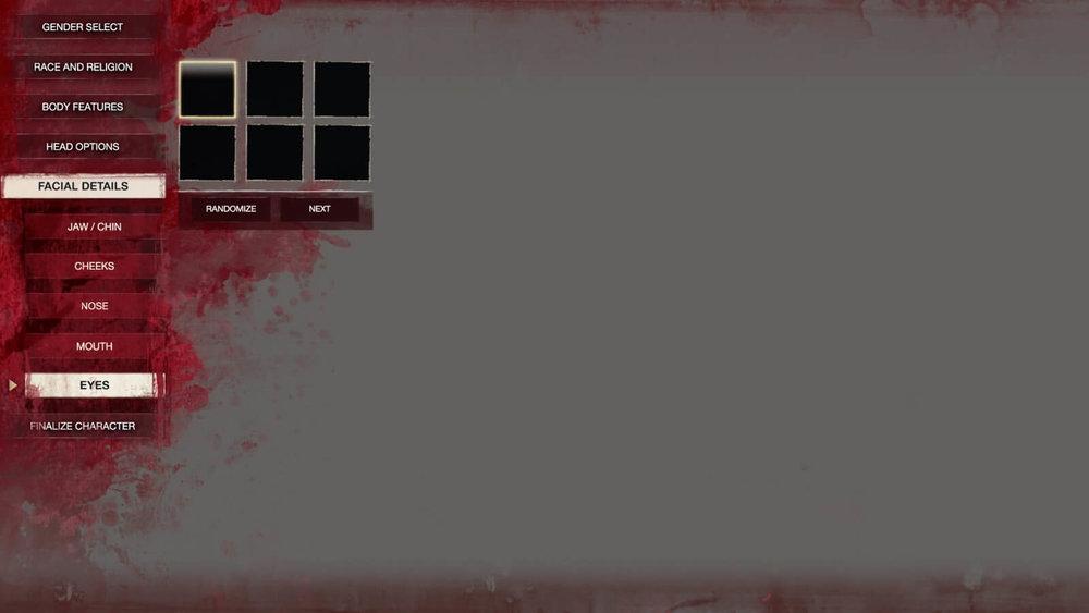 Conan Exiles - UI Design - Character Creator Facial Detail Eye Selector