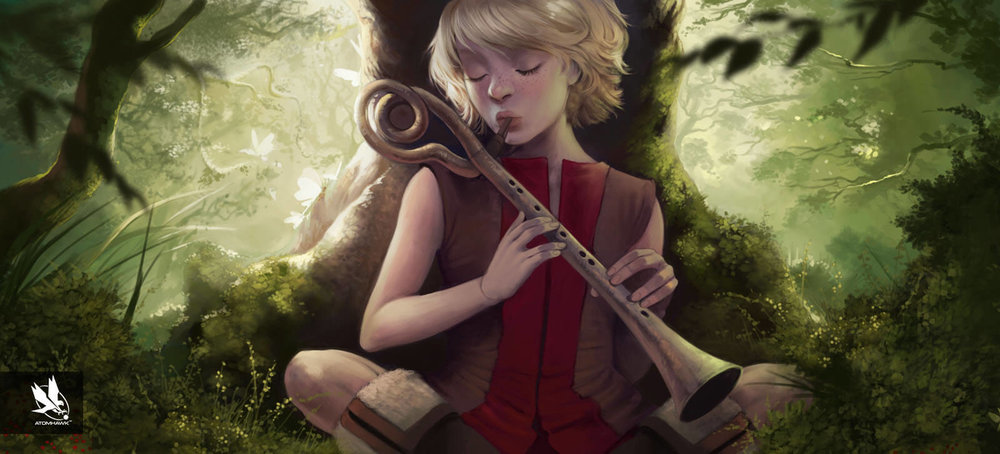 Serena Plays the Flute in Key Moment from Atomhawk's The Realm