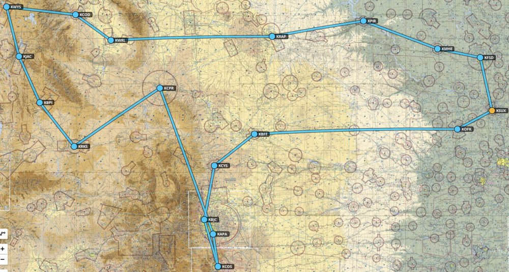 Want a customized instrument training trip?  Here is the path of a recent trip.  15 house of real world instrument training…different airports, different airspace, different ATCs, multiple altitudes and tons of approaches