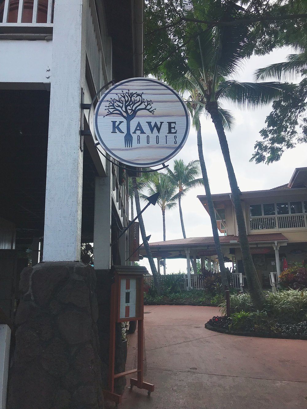 Kiawe Roots - This place started out as a food truck and was obviously so good they turned it into a restaurant! A local recommended this place to us and seriously we are SO glad we went! Scott wanted to try the Loco Moco (an authentic Hawaiian dish that is beef patties and sunny side up eggs served on a bed of rice with gravy) and I was very hesitant.but it was AMAZING! We are going to try to recreate it at home! I was lucky to be able to try it because gravy usually has gluten in it, but at Kiawe roots they made a gluten free demi-cream sauce and it was to die for! It wasn't dairy free - but worth it! We felt so loved because a stranger paid for our meal that night <3