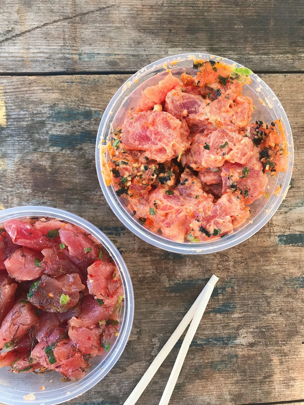 Ishihara Market - They have a great deli for poke! So many gluten free options and the price is great! I also had a custom order Musubi here - the only place we could find gluten free Musubi on the Island!