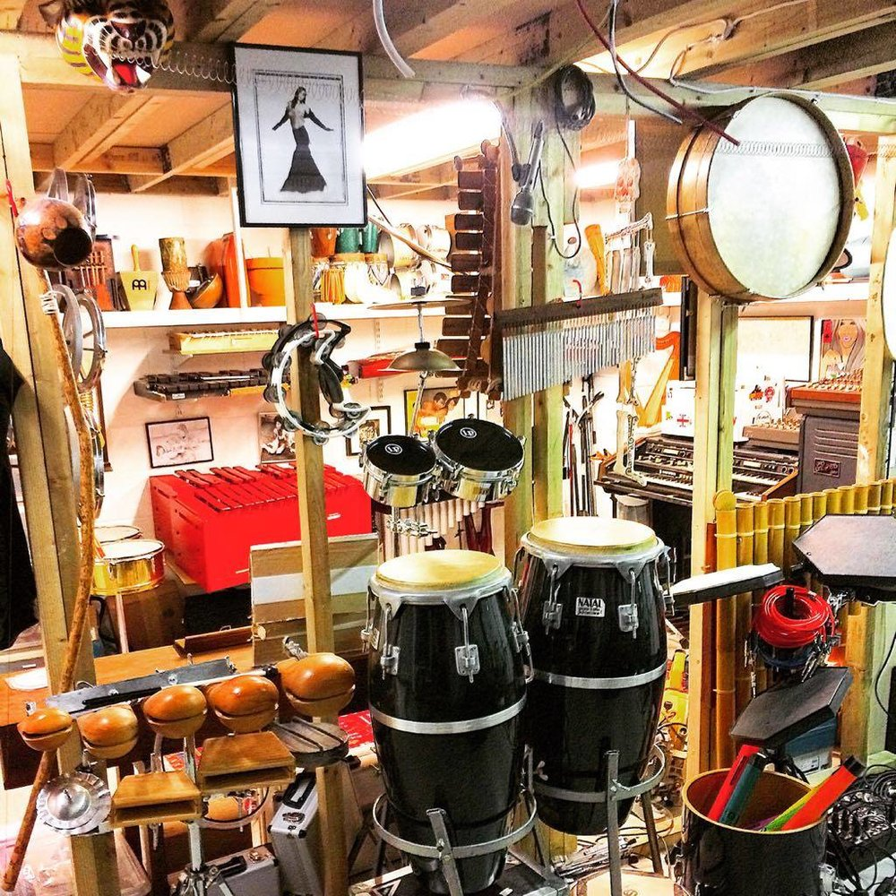 I love percussion. I have many instruments and there is always another thing to get too! Here's a few things from my arsenal .