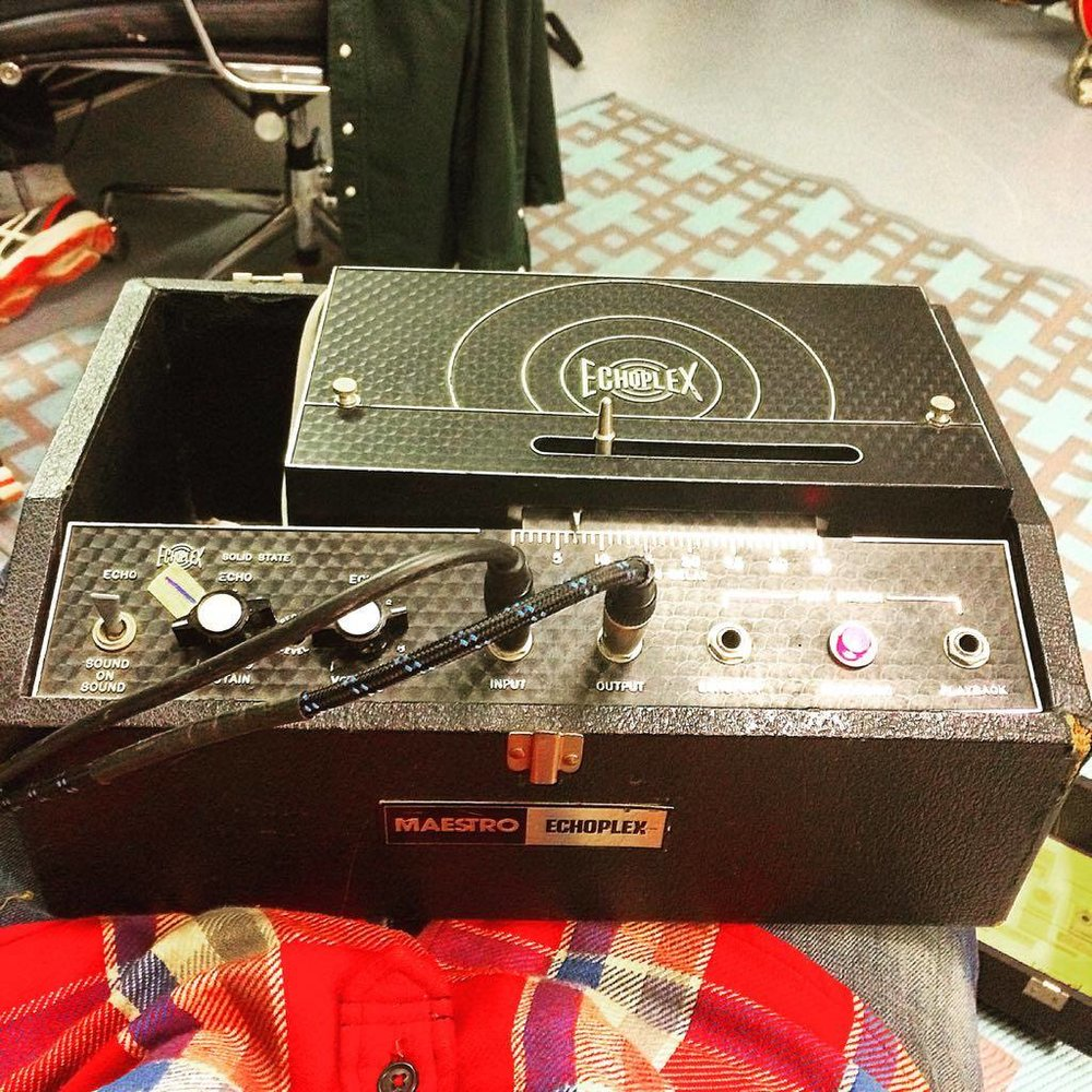 I got my Echoplex in 1992 at Black Market Music in LA. It is a magic box. One of my favourite things. Crusty & Psychedelic!