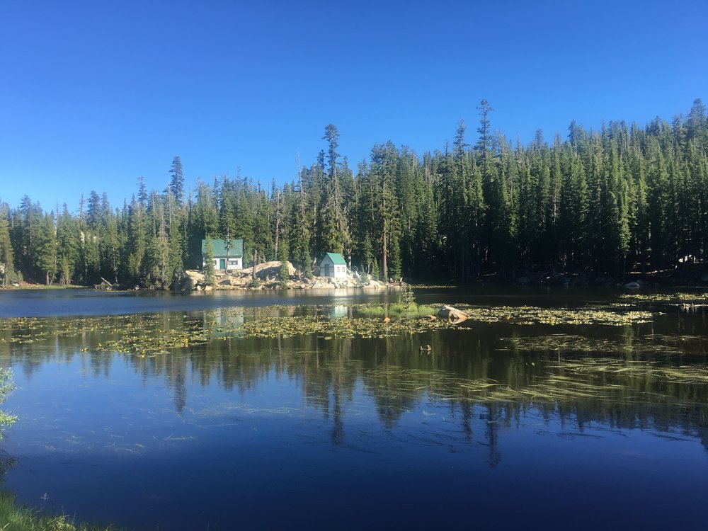 Mosquito Lake:   About 50 minutes from Pinecone Hollow just past Lake Alpine..