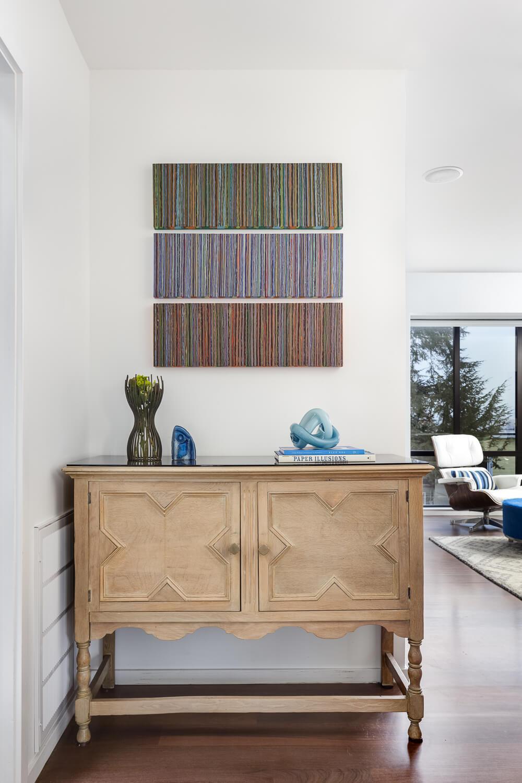 Living Room White Modern Jennifer Gustafson SF Bay Designer