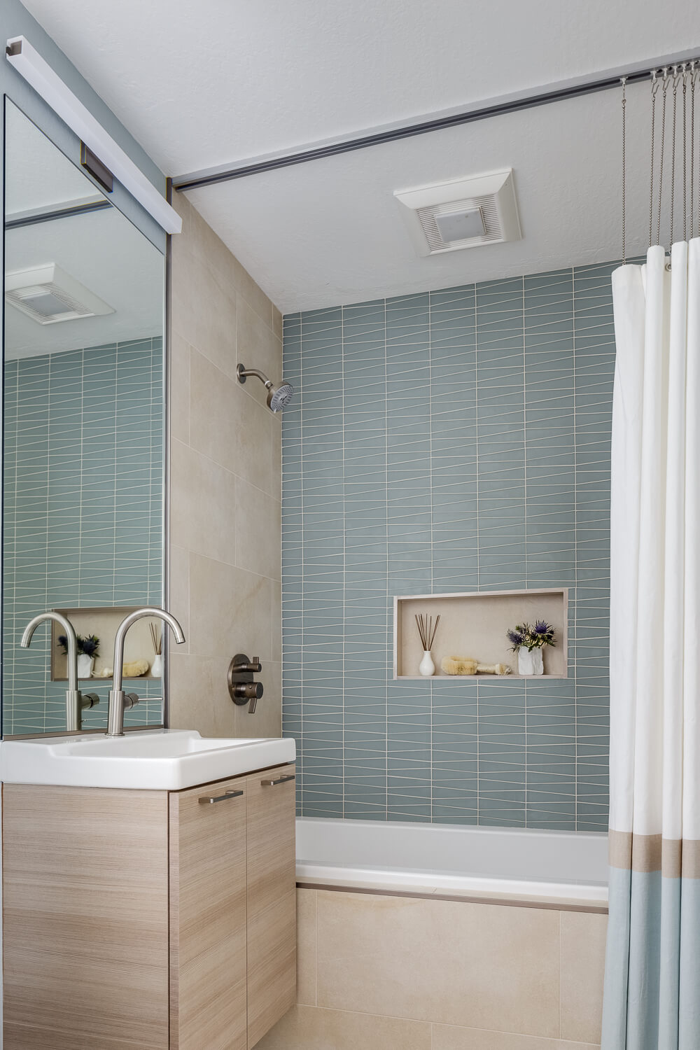 Bathroom Neutral Lt Blue Sage Modern Jennifer Gustafson SF Bay Designer