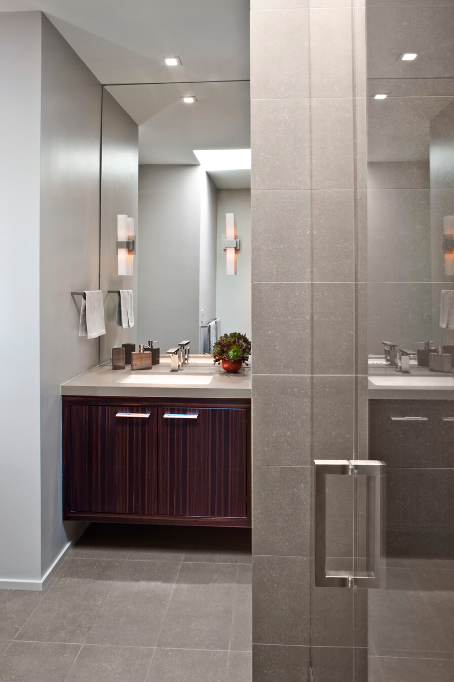 Bathroom Gray Modern Jennifer Gustafson SF Bay Designer