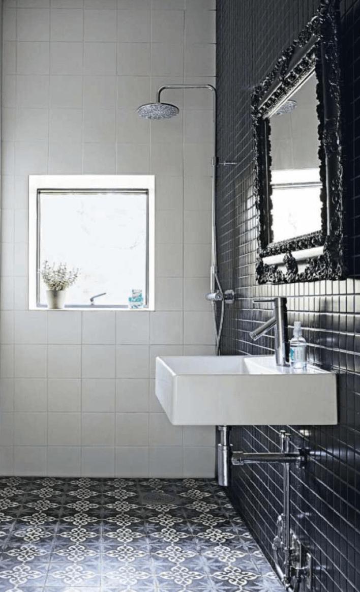 Bathroom Black White Wet Room Tile Living Etc. 01.14