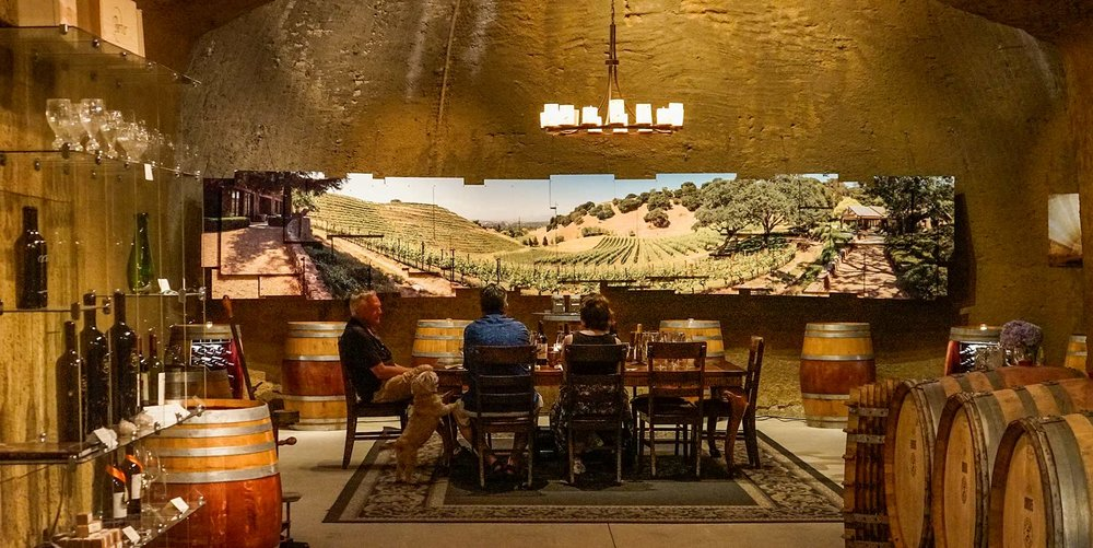 Inside the caves at Porter Family Vineyards | Coombsville