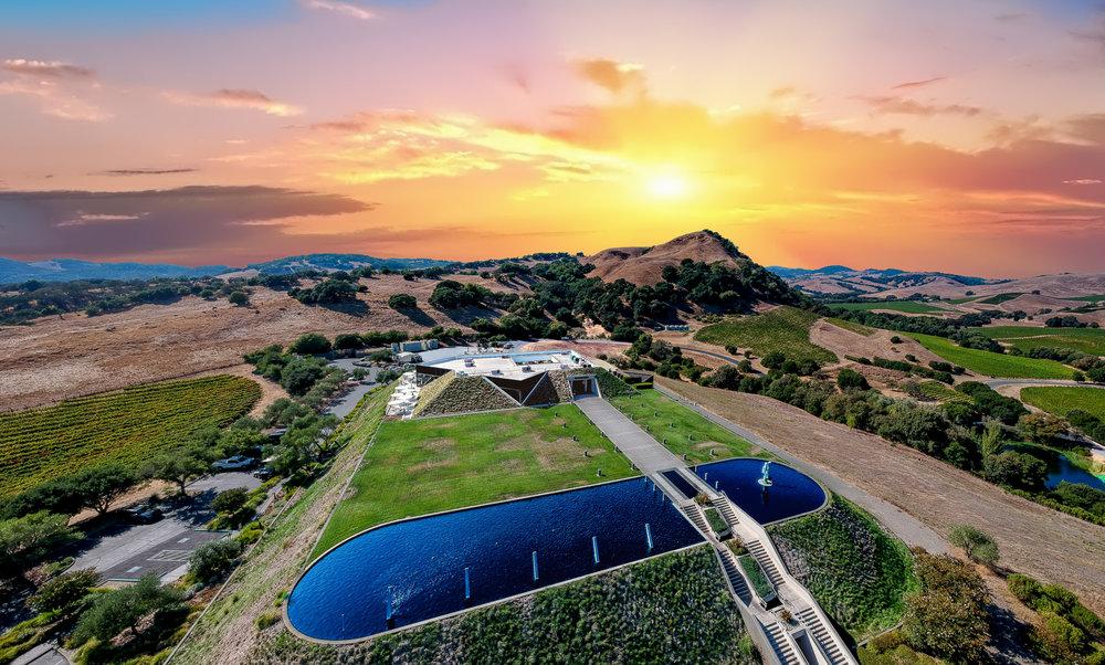 Drone photo of Artesa Winery in Los Carneros