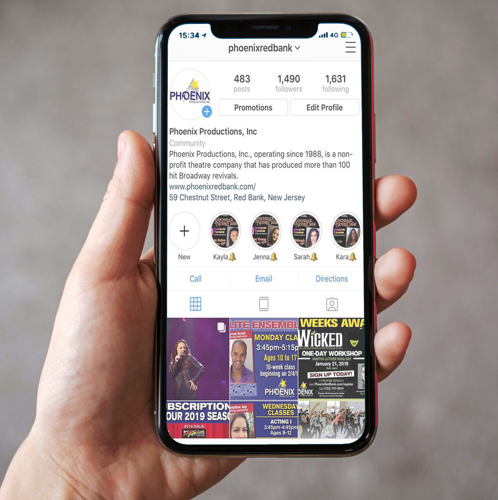 Digital media Advertising - • Postings on multiple social media sites tagging your company• Phoenix's website• The Basie's event page for the production
