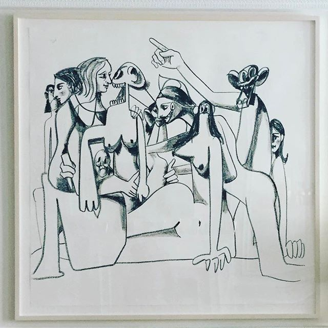 #goodmorning #georgecondo #artlovers #charcoal #artonpaper #newaquisition