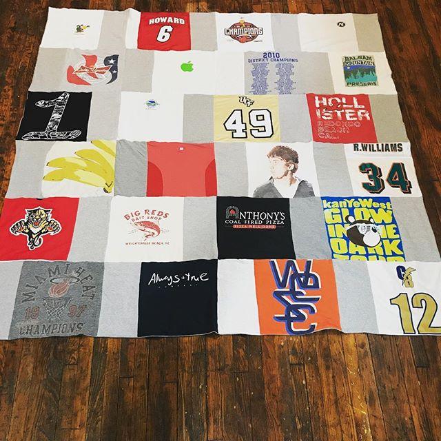 Sketch becomes a quilt. #tshirtquilt #handmade #madeinnyc #quilt #tshirts #t-shirts #shirts #memories #memoryquilt #tshirtblanket #stitchT