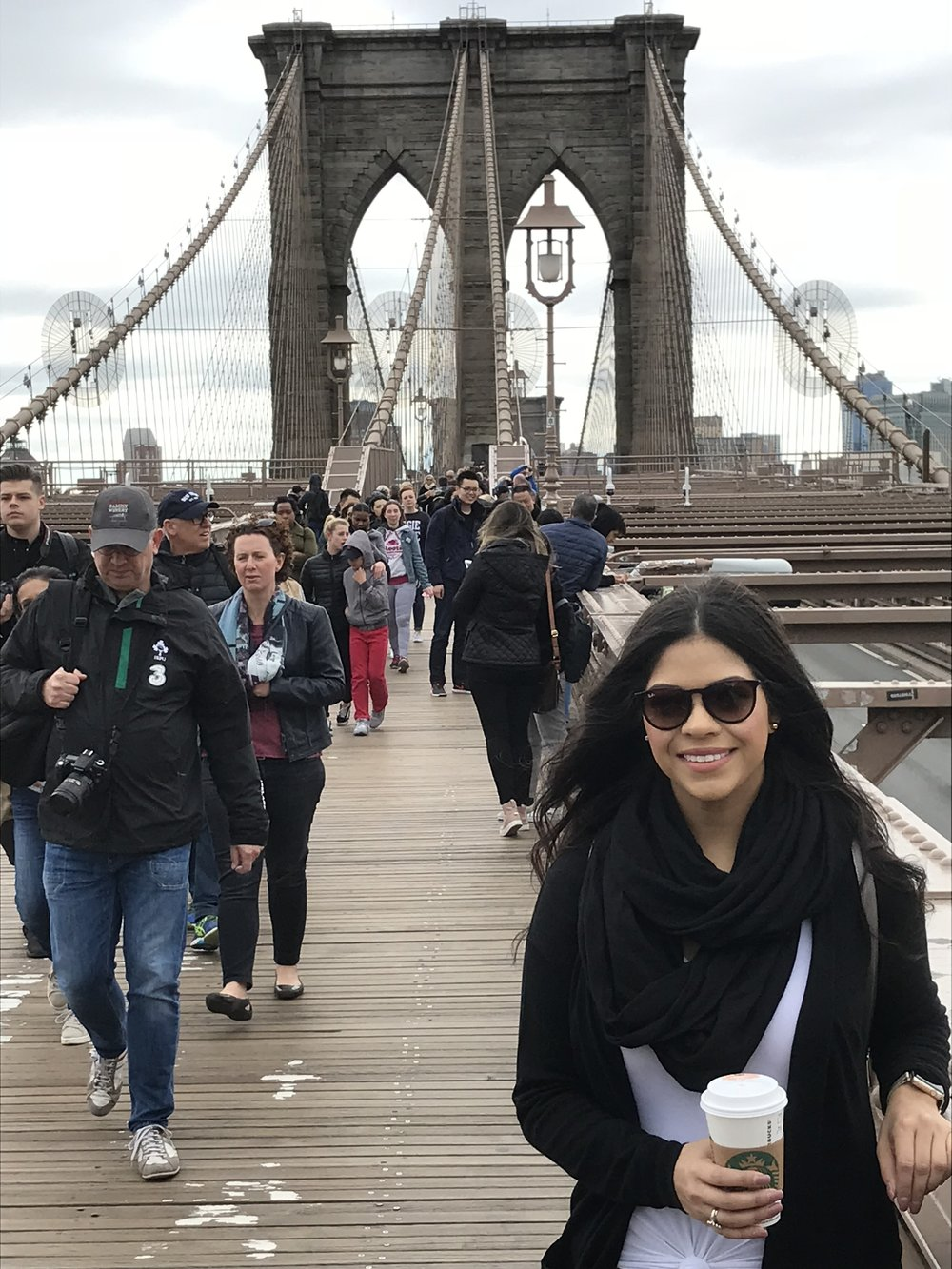 Walked across the Brooklyn Bridge