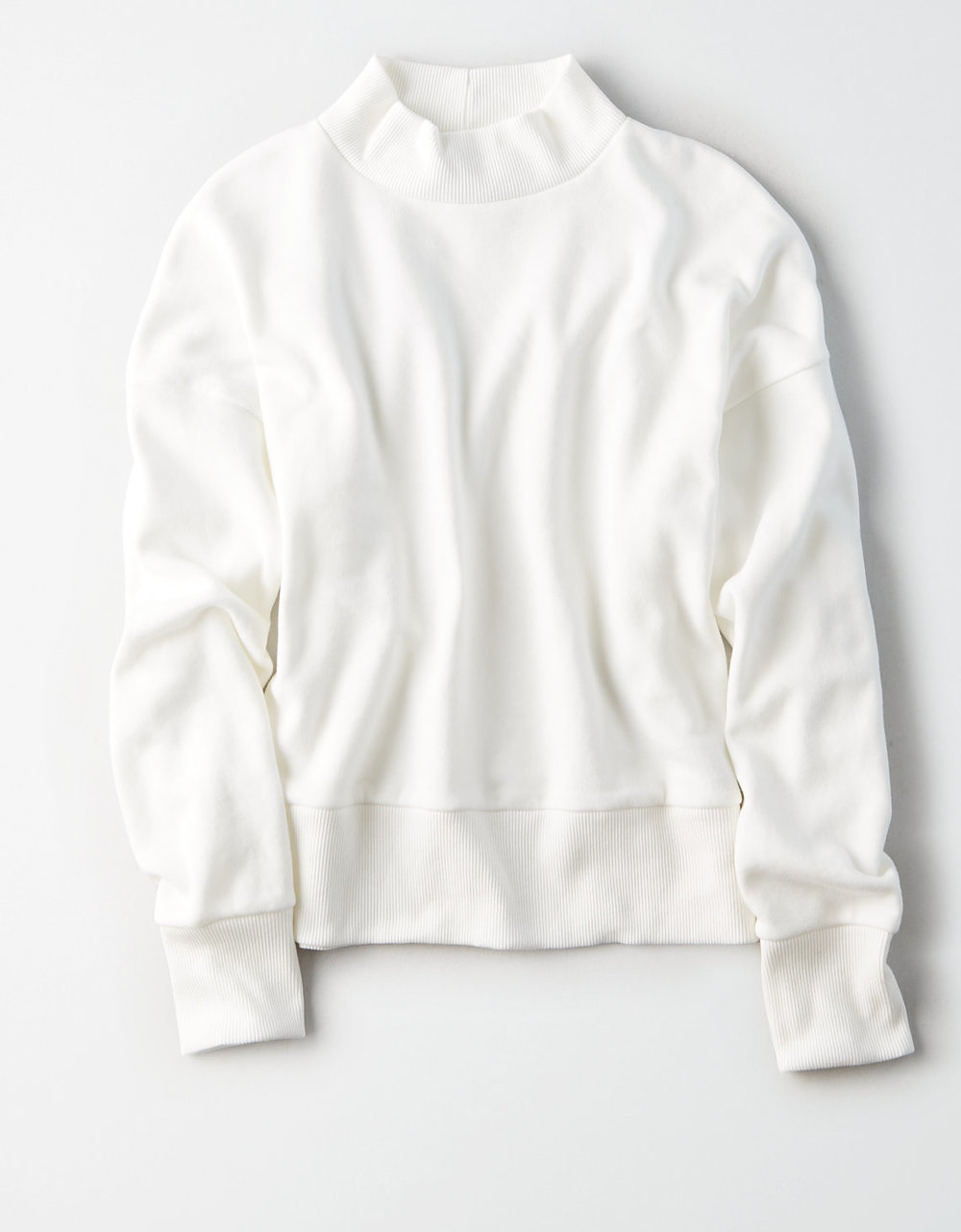 AE AHHMAZINGLY SOFT MOCK NECK SWEATSHIRT