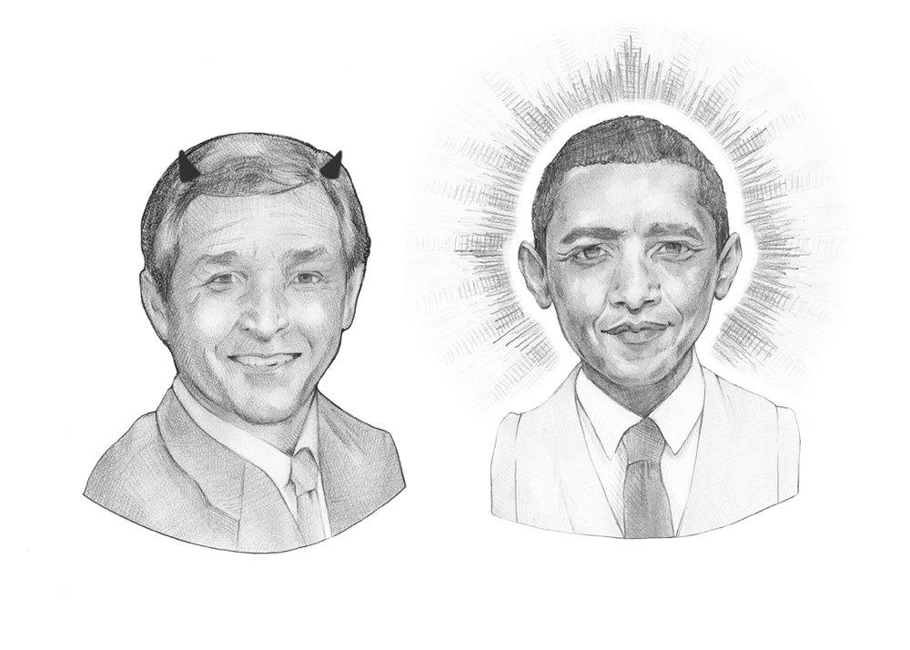 Bush & Barack