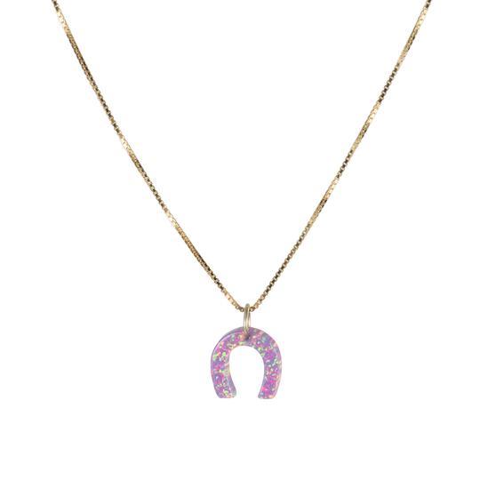 The Opal Horseshoe Necklace