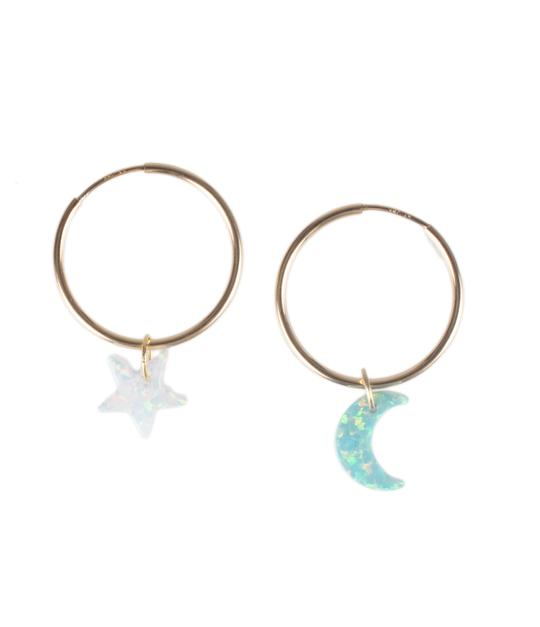 The Opal Star and Moon Set