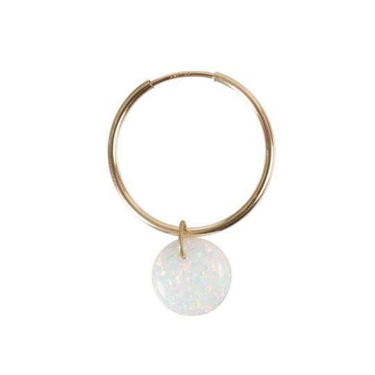 The Opal Full Moon Earring