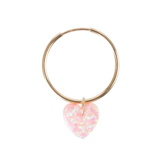 The Opal Heart Earring