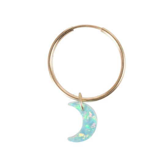 The Opal New Moon Earring