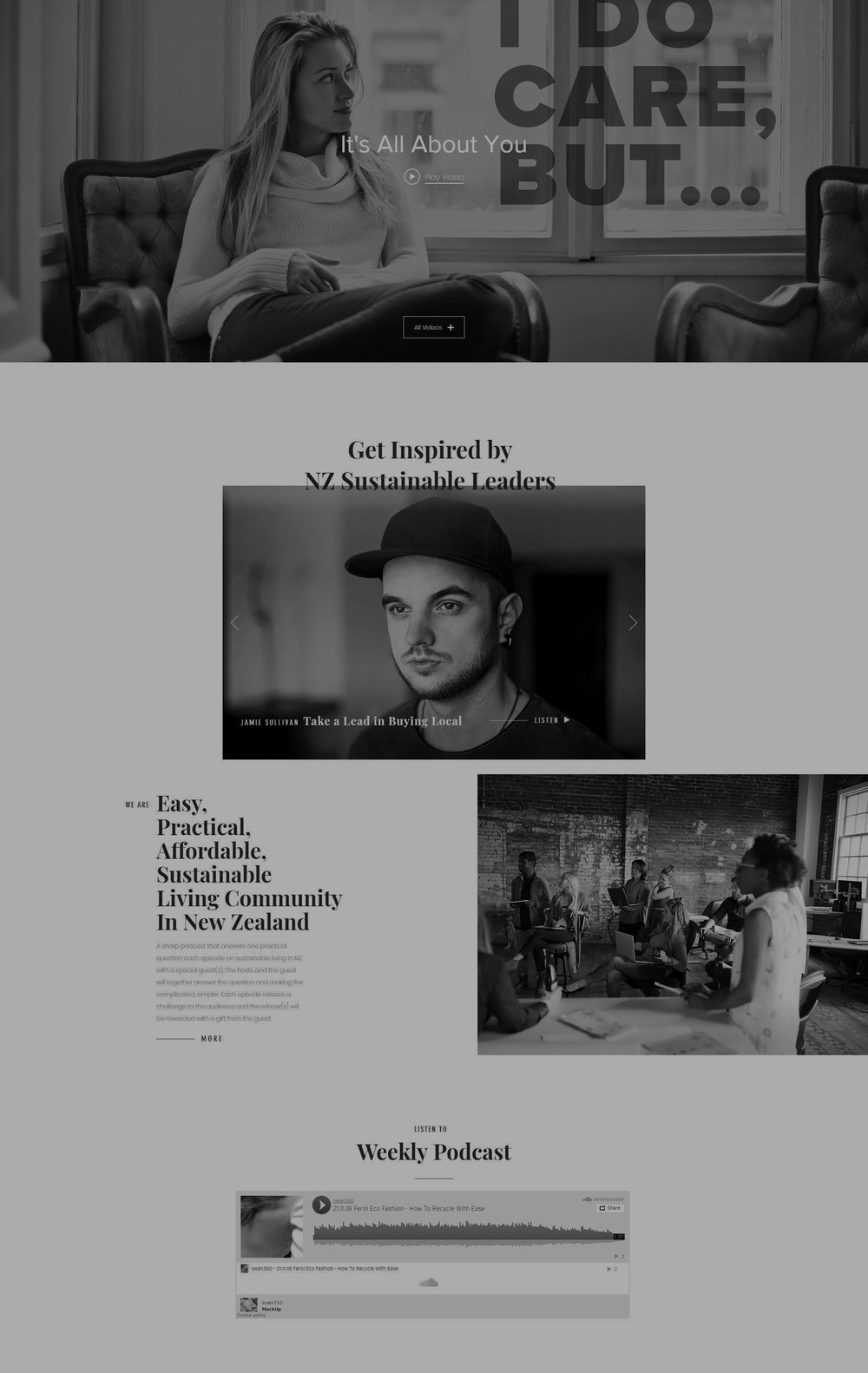 Prototype Website - User stories, videos by guests, online podcast, live stream, Instagram feed, all in one.