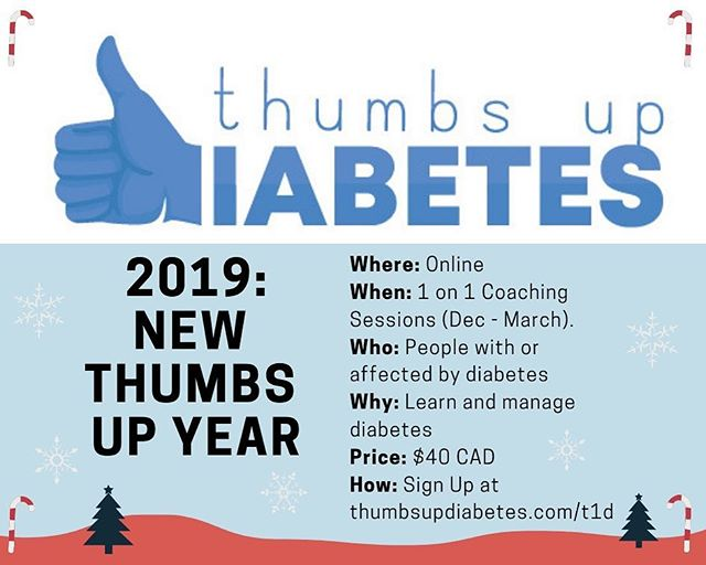 New thumbs up year!  This 1 on 1 program is the perfect holiday gift. The 1hr sessions are structured to emphasize diabetes physiology, basic science, excessive, nutrition, psychological health, connection and goal setting.  Check out the link in the bio for more information. - - - - - - #t1d #diabetes #diabetesmanagement #thumbsupdiabetes