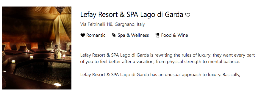 Allow every part of you to feel better at Lefay Resort & Spa Lago di Garda, Gargano