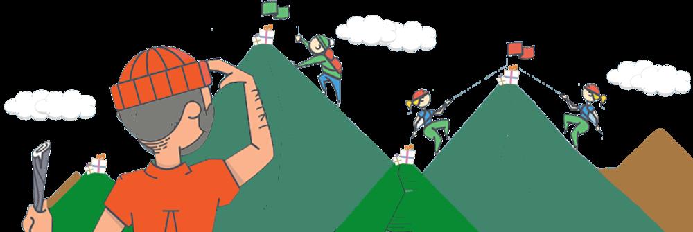 Escaladez des montagnes avec Incenteev