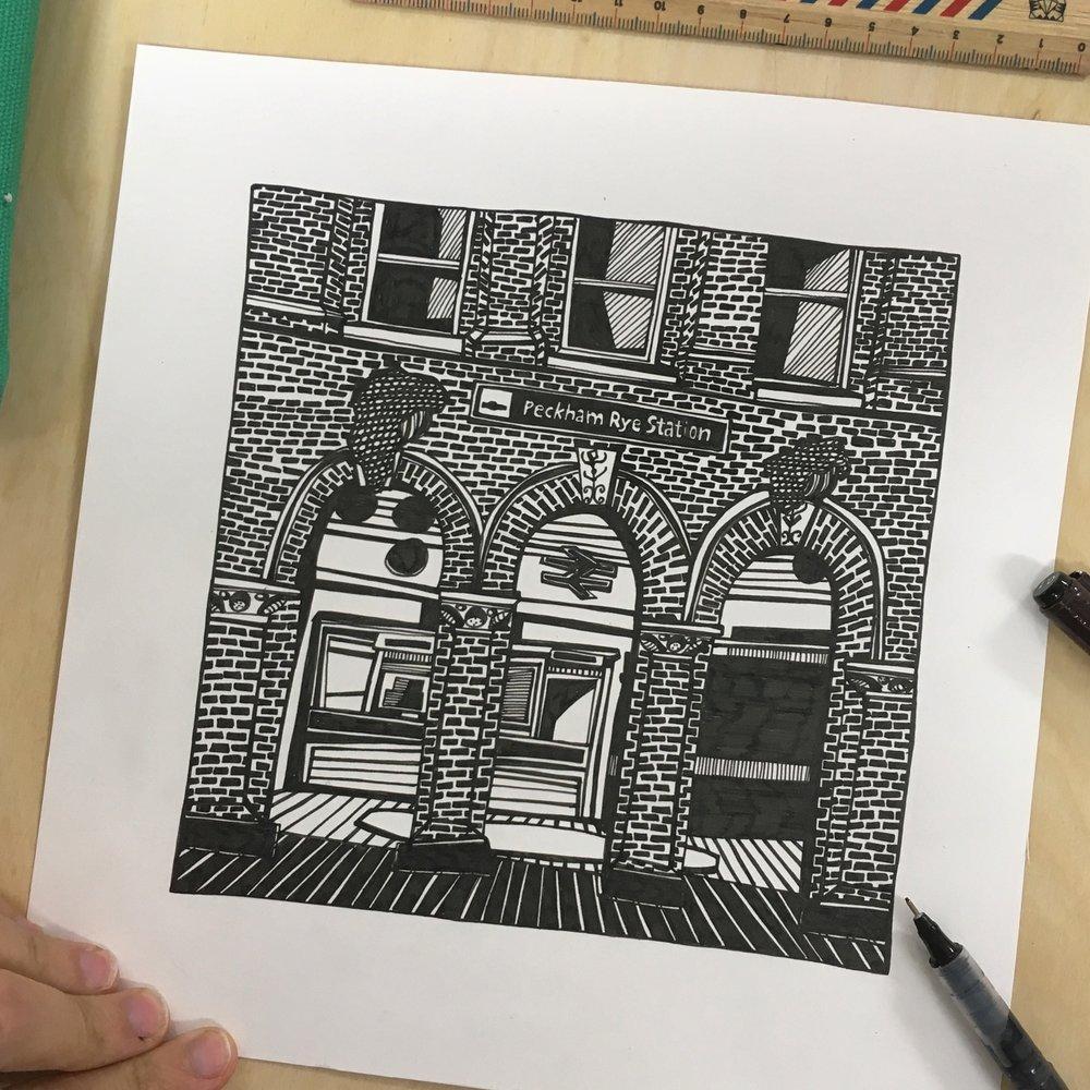 Peckham Station Drawing.JPG