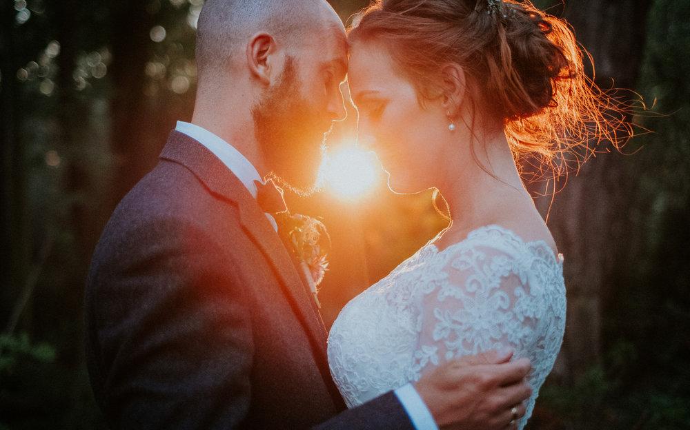 kveldsportretter bryllupsfotografering