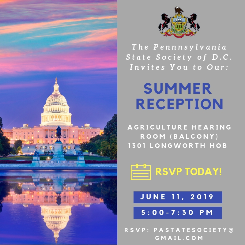 Latest Event - Join us at our Summer Reception!RSVP: pastatesociety@gmail.com