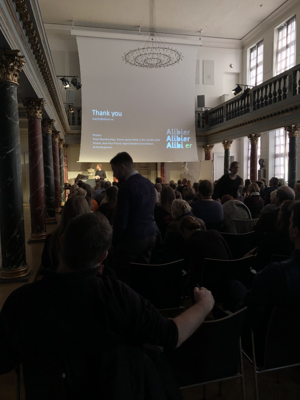 The main conference hall in the National Museum of Denmark, Copenhagen