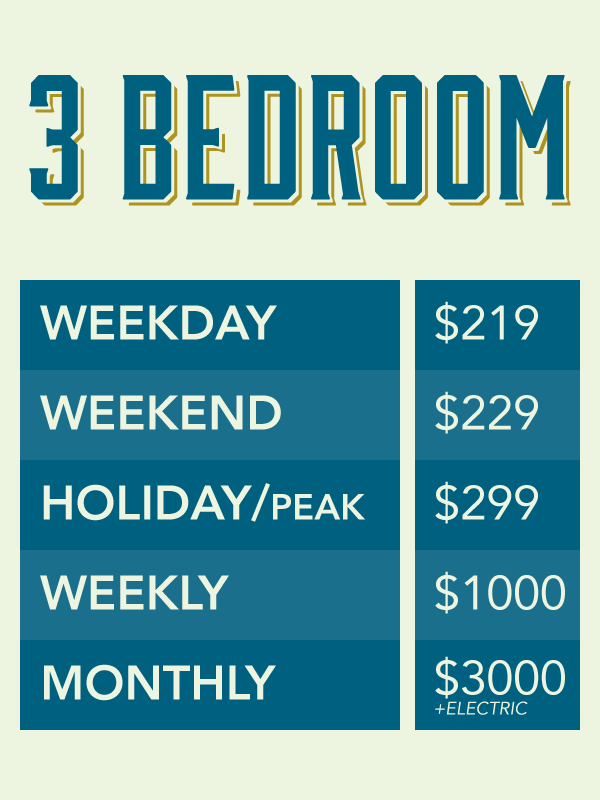 Colorado River Manufactured Vacation Home Rental - Three Bedroom