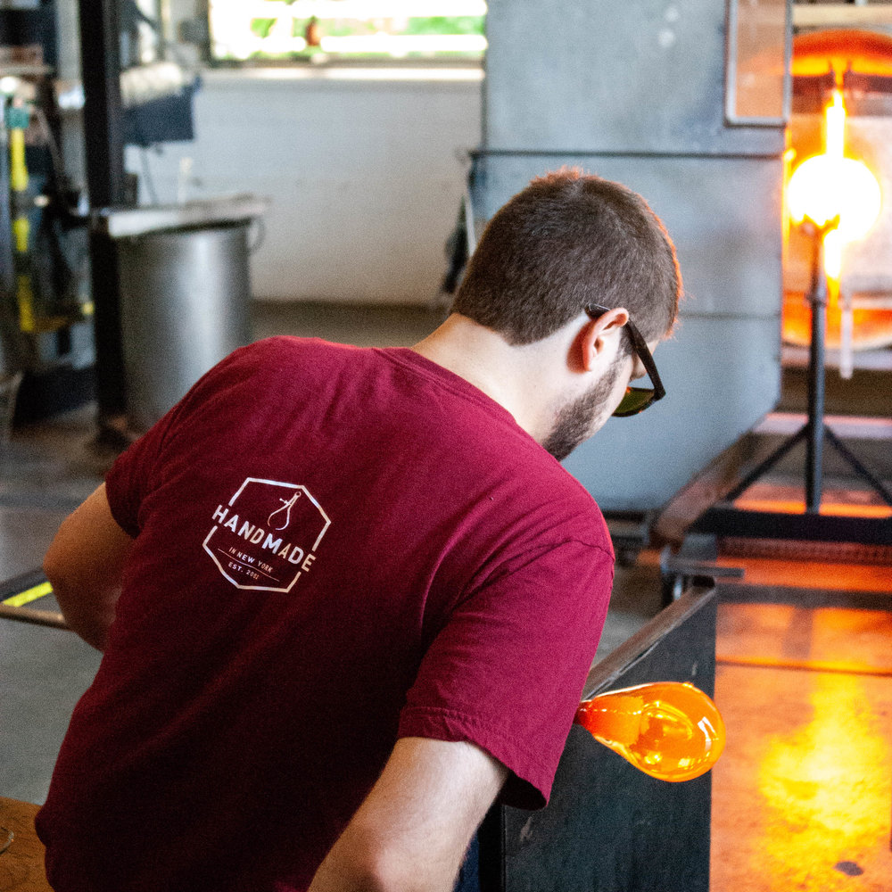 Every piece of Niche Modern glass is hand-blown in their upstate New York factory