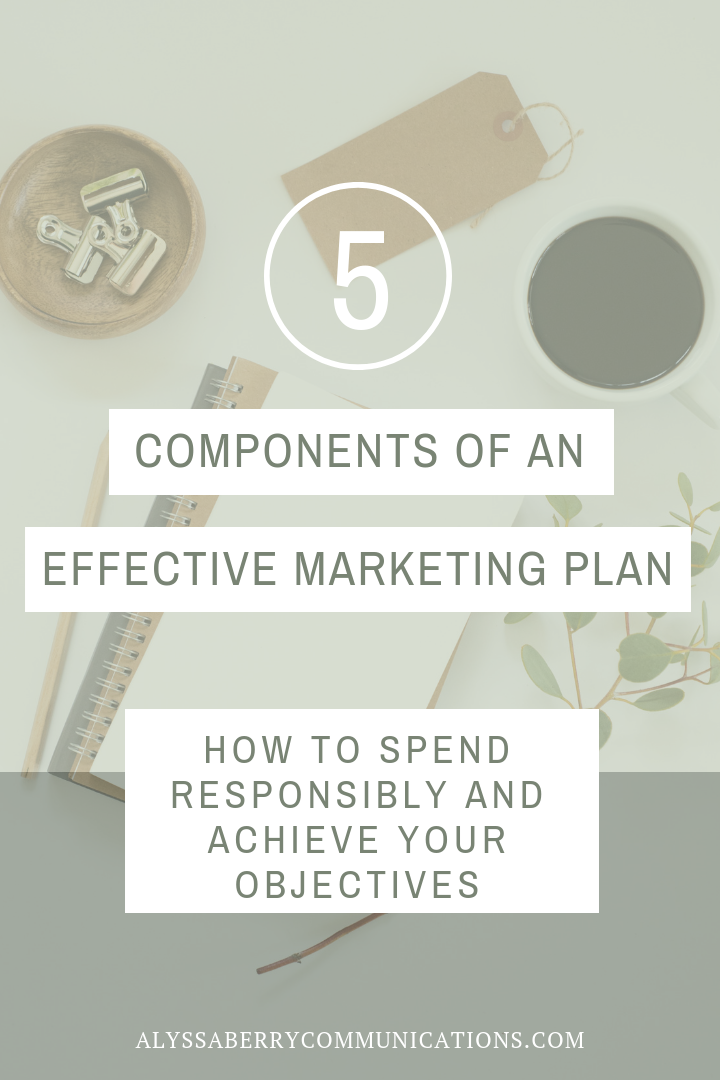 5 Components of an Effective Marketing Plan