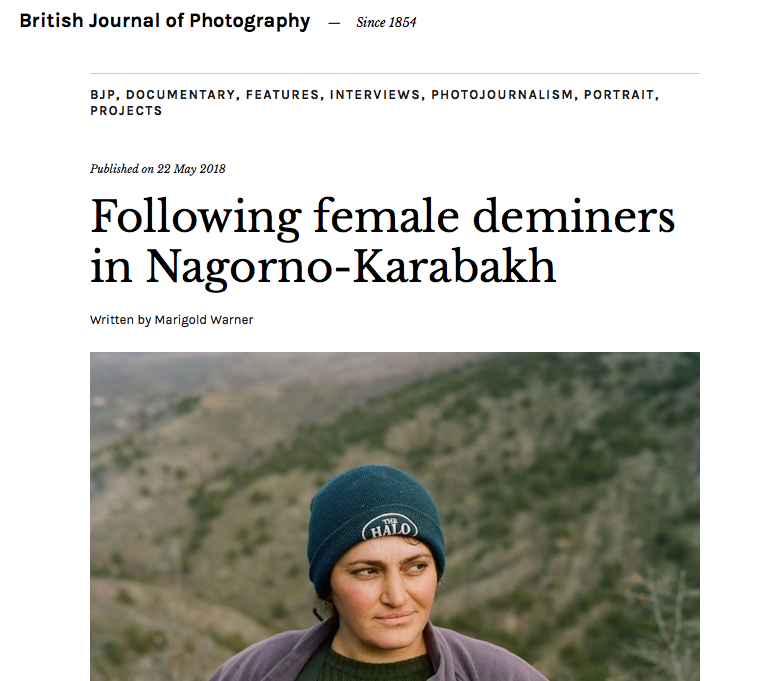 Interview for The British Journal of Photography , May 2018