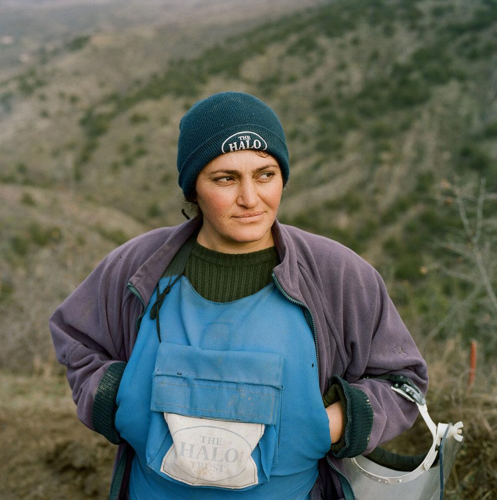 Christine at Aghavnatun minefield.