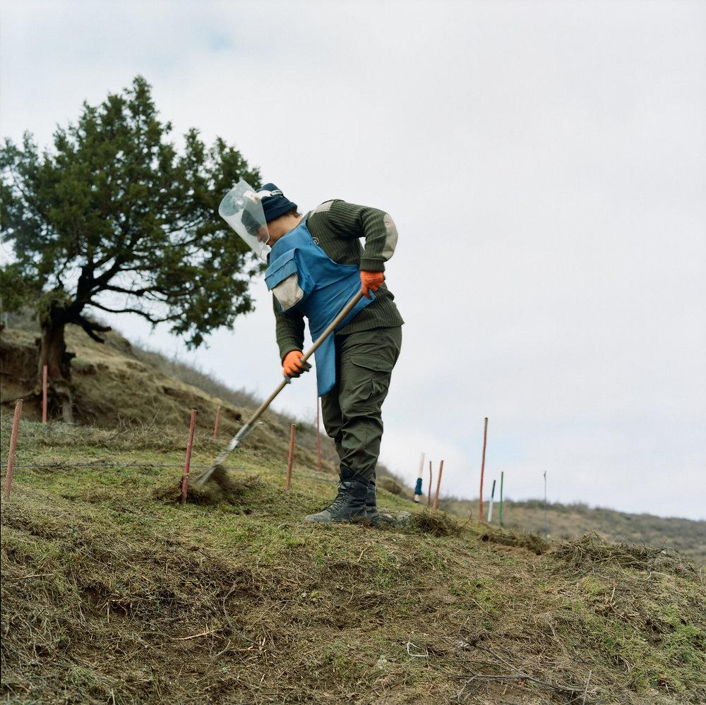 Christine working at Aghvnatun minefield.