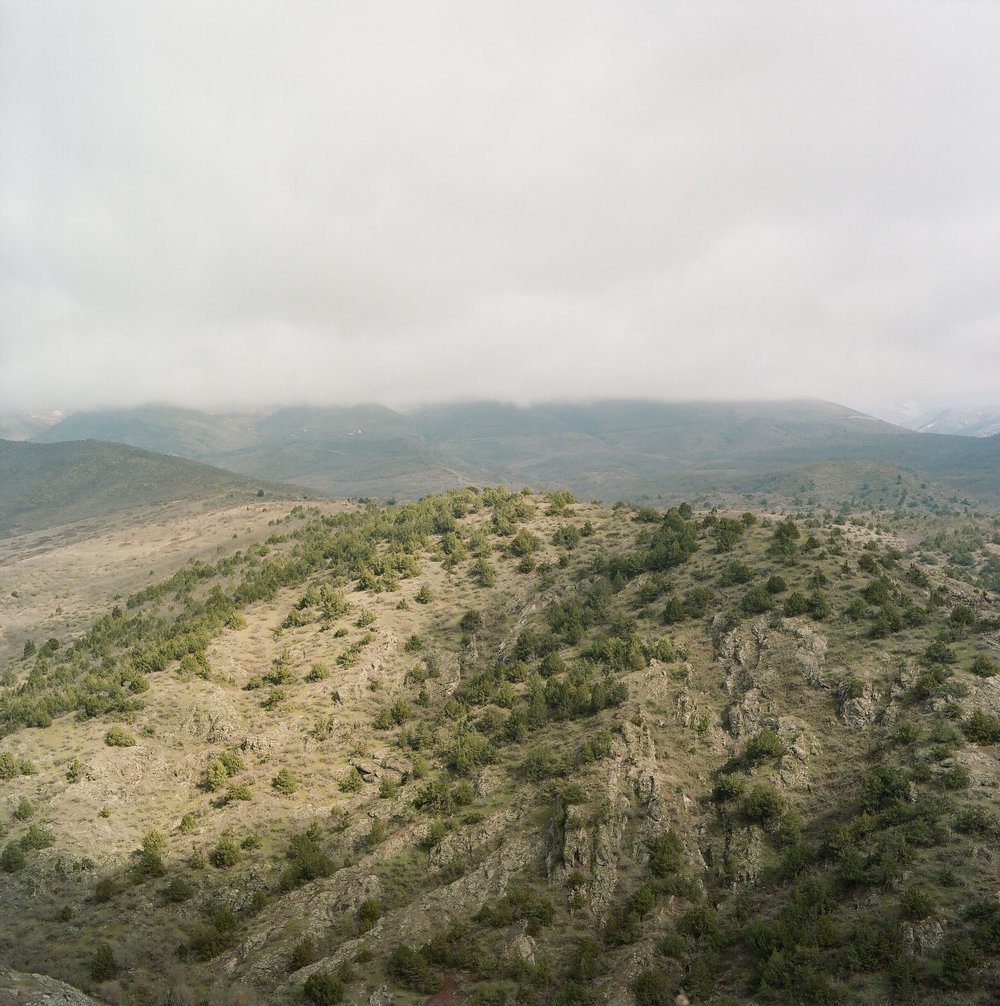 Looking across the valley from the Aghavnatun minefield.