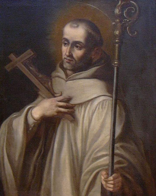 Painting of Saint Bernard of Clairvaux by Vicente Berdusán Osorio.