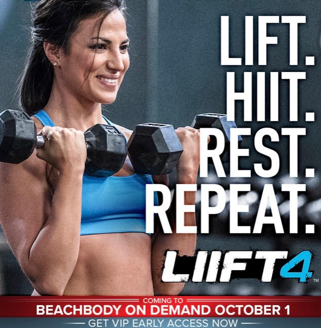 Lift, HIIT, Rest, Repeat, LIIFT4 coming to Beachbody On Demand October 1.