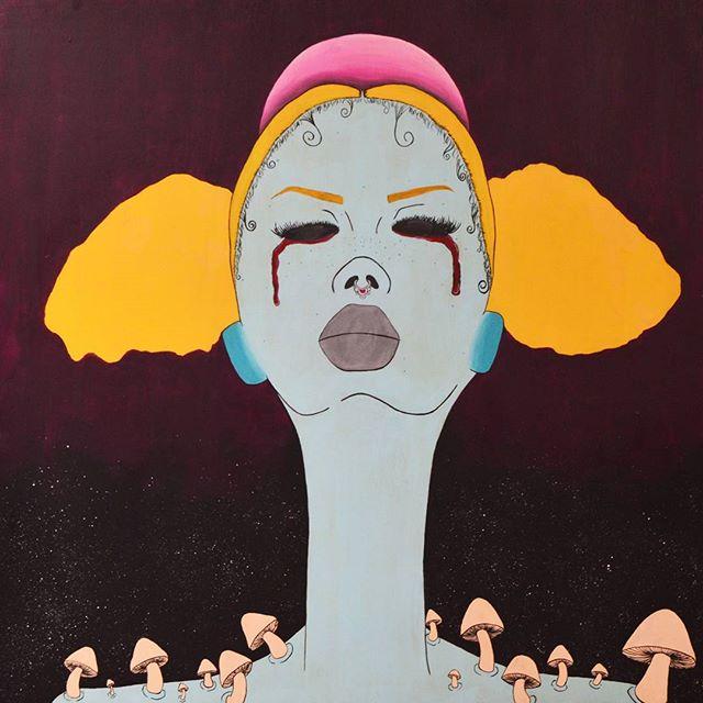 """Like The Lambs To The Slaughter, U Left Me Cold & In Love"" 30x30  Acrylic on wood panel #idiUm #illunicornati #lovewatts #art #artistoninstagram"