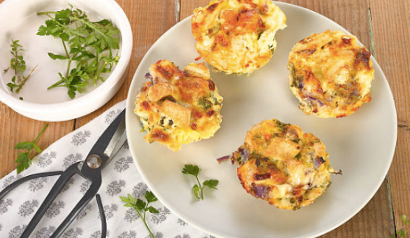 High Protein Savoury Breakfast Muffins -